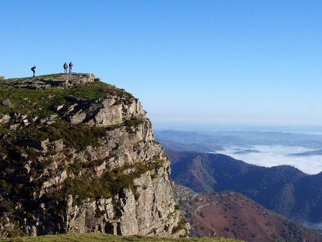 Hikers at the summit of...