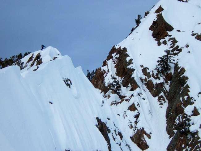 making way up the south ridge