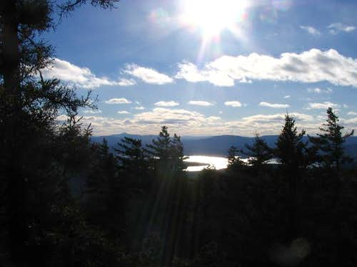 View towards Newfound Lake...