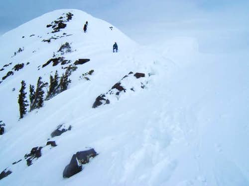 approaching the summit. the...
