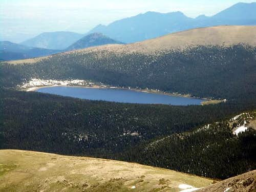 Niwot Mountain and Lefthand Reservoir