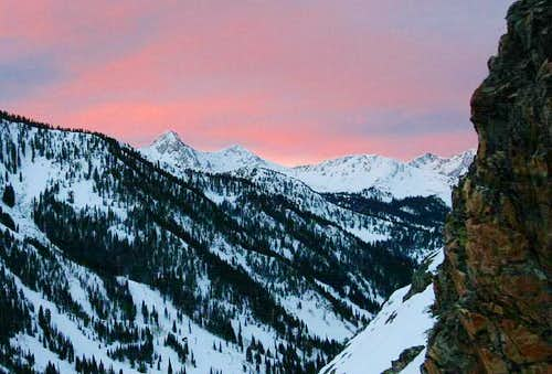 Sunrise over the Pfeifferhorn...