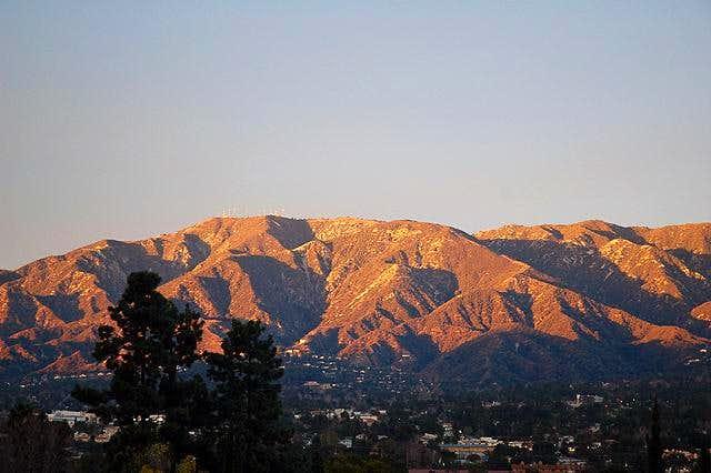 Mount Lukens at sunset. The...