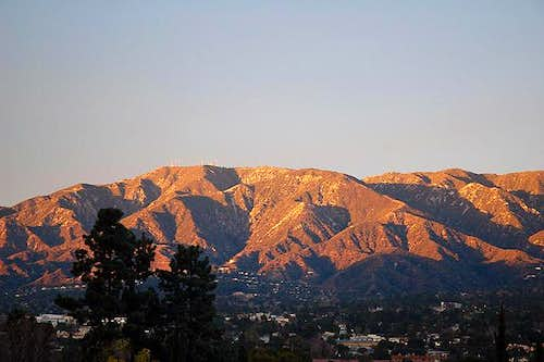 Mount Lukens at sunset. The...