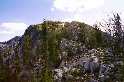 The north ridge of Pk 8525...