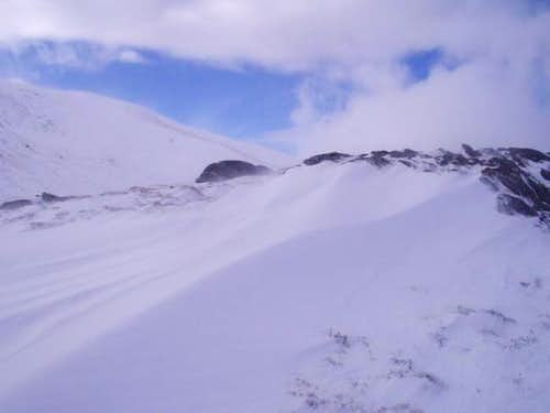 Bealach Aoidhdailean - Rapid clearing after a blizzard