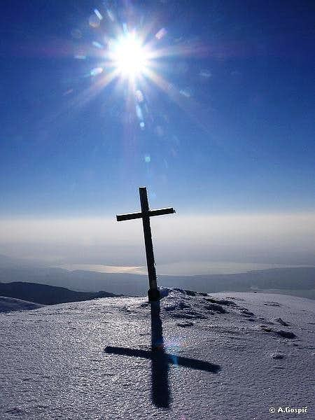 Sveto Brdo summit cross