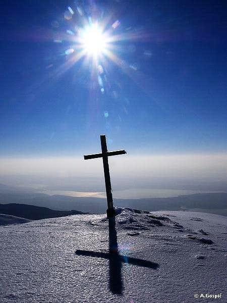 Sveto Brdo summit cross