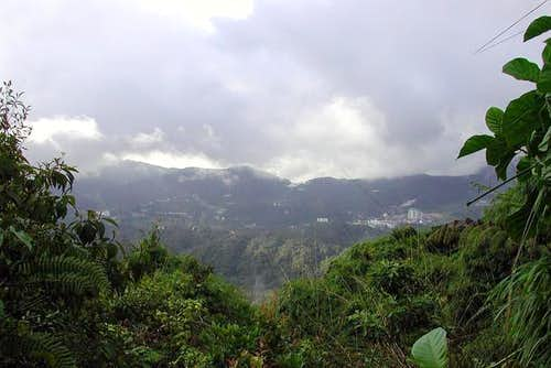 the view at the peak of Mt...