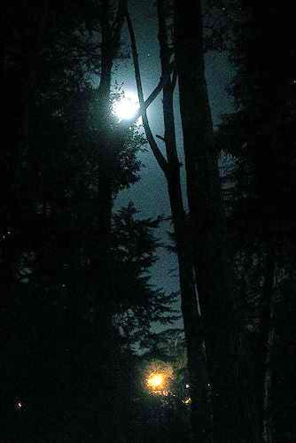 the full moon at the basecamp...