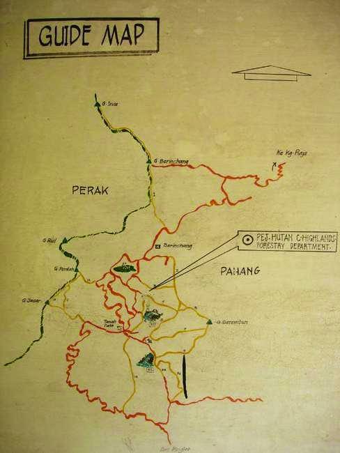 the trek map to Mt Berembun...