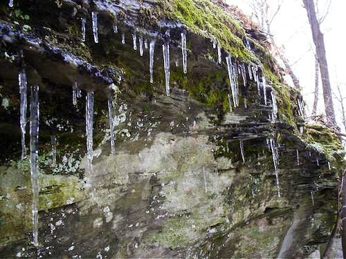Ice cicles on the descent of...