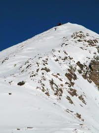 The summit ridge as seen from...
