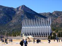 Eagles Peak rises above the...