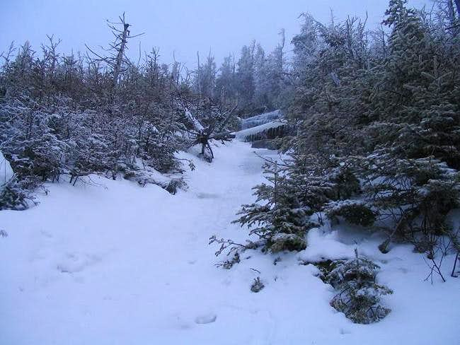 Winter approach of the summit