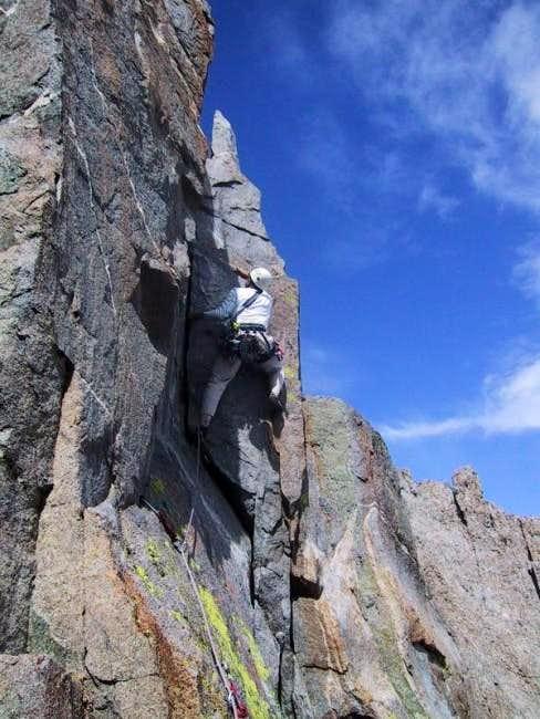Working the steep corner of...