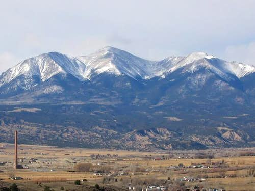 Mt Shavano from above Salida....