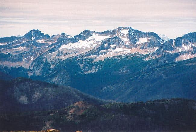 Mt. Lago (right of center)...