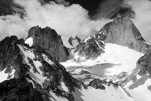 Bugaboo Spire (right) and...