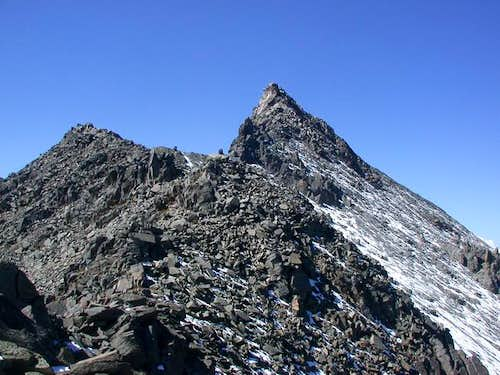 The summit from nearby on the...