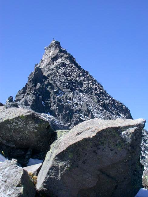 The summit with climber from...