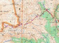 Topo map of Golem Korab with...