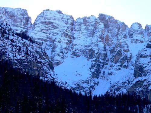 Mont Cristallo North face in...