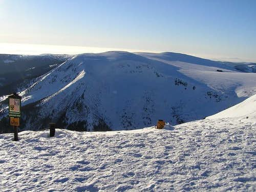 Studinicni hora seen from the...