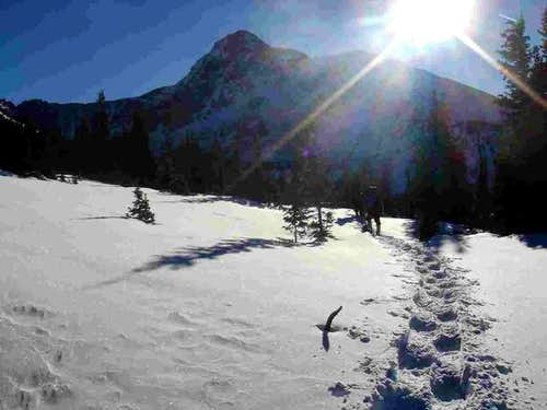 Snowshoeing towards Holy...