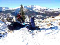 Resting at Half Moon Pass;...
