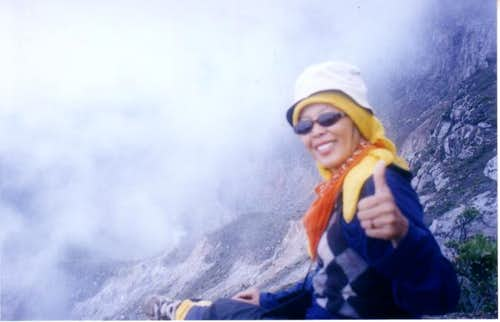 at the summit of Mount Gede