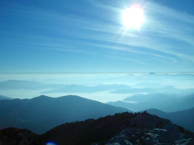 Gorski kotar in fog from Mt....