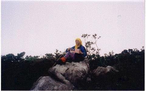 At the summit of Mount Murud