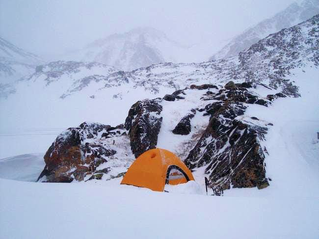 Camp 3 on the way up Mystic,...