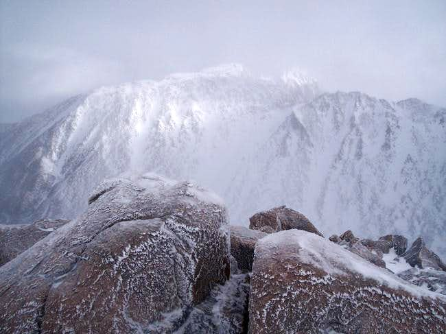View of the NW summit of...
