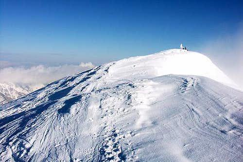 Summiting Gamsfeld in a...