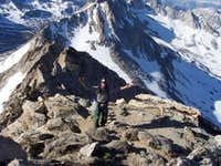 Adam on the summit ridge...