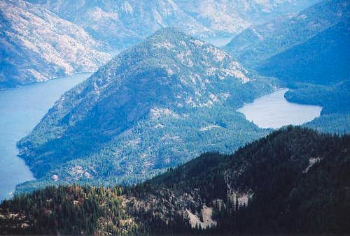 Domke Mountain (4,067 ft) and...