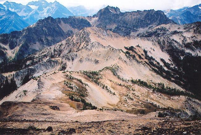 Riddle Peaks (8,232 ft) to...