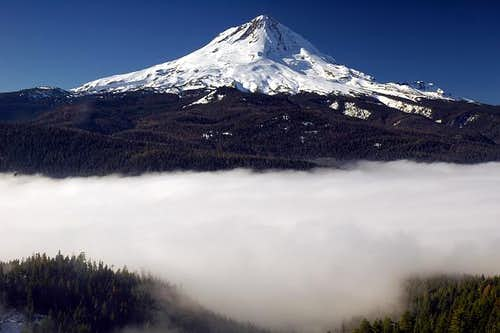 Mount Hood as seen from above...