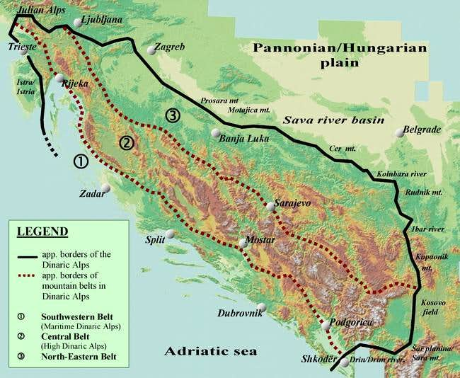 Map 3. Borders of the Dinaric...