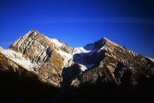 The monte Tagliaferro(left)...