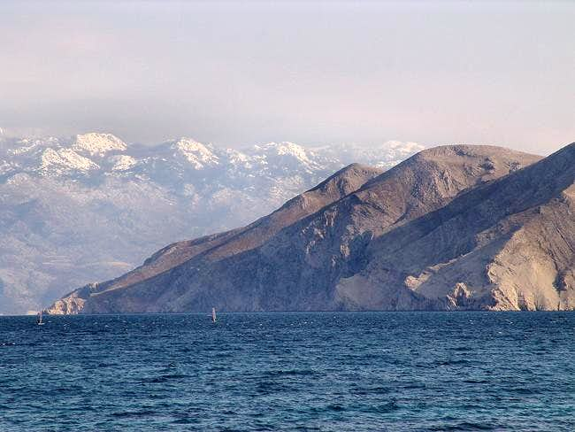 Velebit mt. from Krk isl.