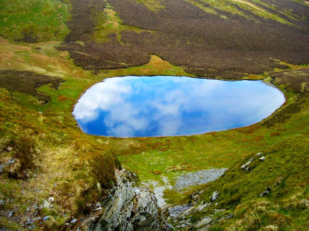 The lake of Llyn Lluncaws as...