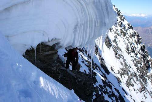 Täschhorn S-O ridge. The...