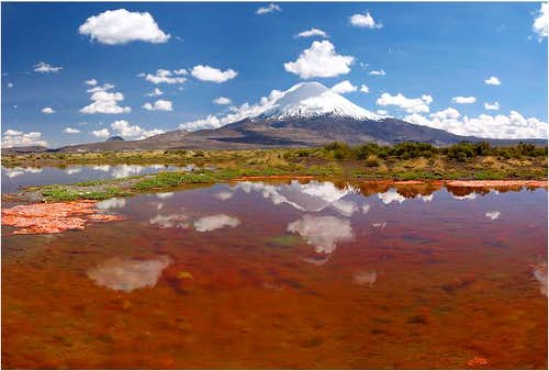Parinacota as seen from...