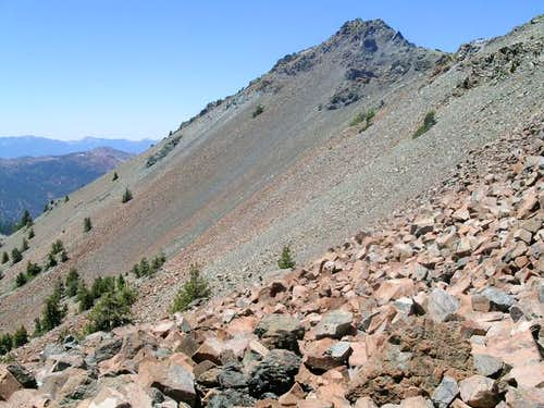 Scree below Mt. Eddy peak.