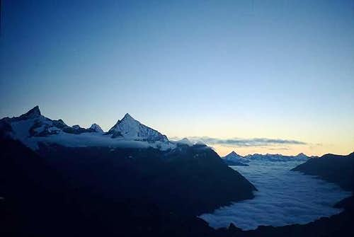 Weisshorn viewed from...
