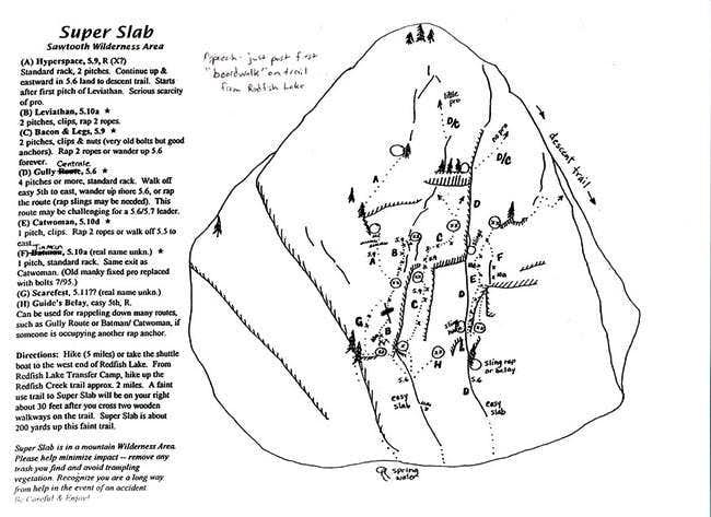super slab topo  1   photos  diagrams  u0026 topos   summitpost