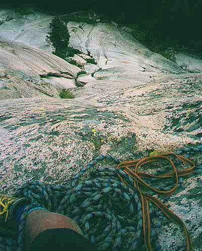Super Slab Belay ledge near...
